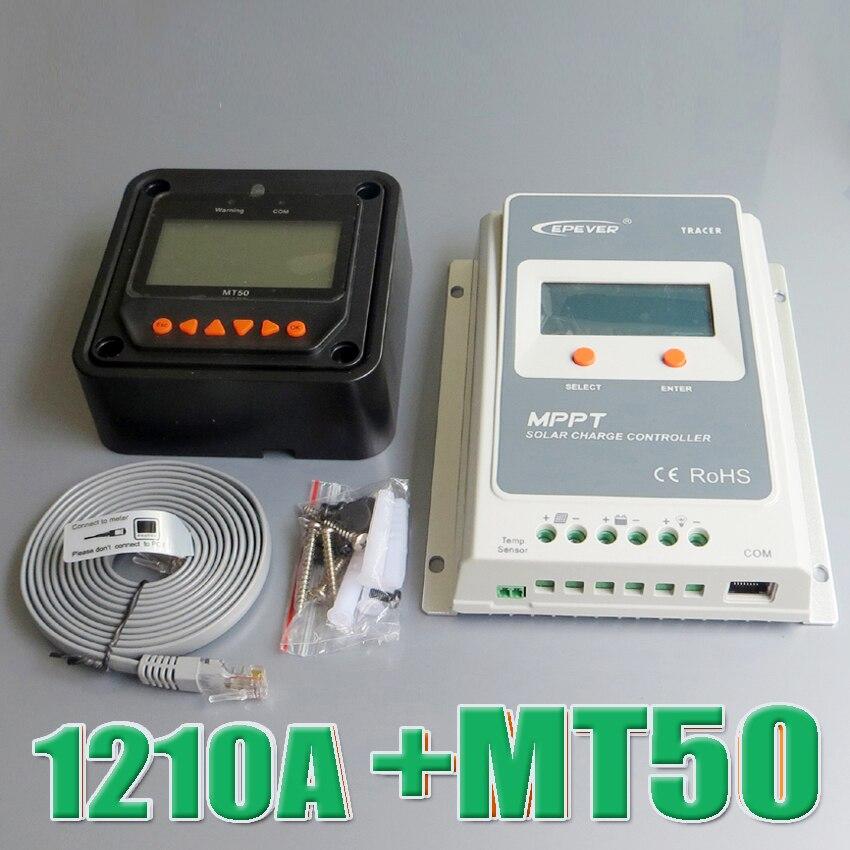 Здесь можно купить   Tracer 1210A EPsloar 10A MPPT Solar system Kit Controller 12V 24V LCD Diaplay EPEVER Regulator with MT50 Meter WY Бытовая электроника