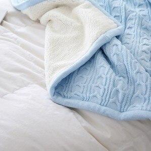 Image 5 - CAMMITEVER 180*120 سنتيمتر لينة البطانيات للأسرة بطانية قطن المفرش الفراش أنماط الحياكة بطانية سرير مريح