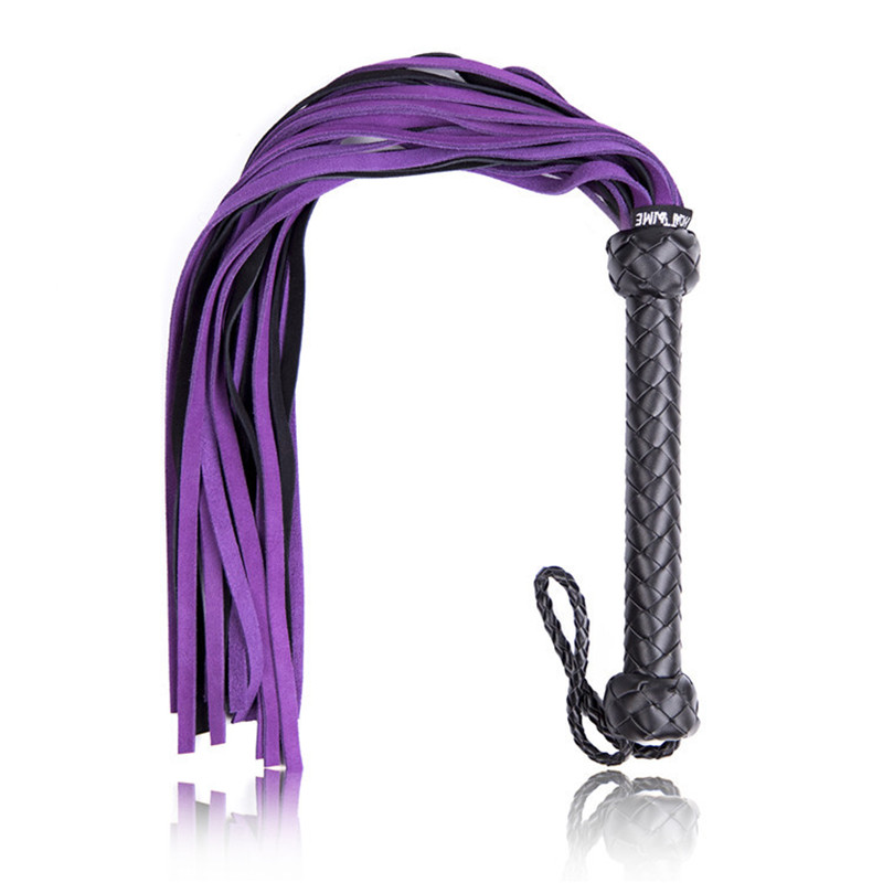 68cm Genuine Leather Whip Flogger Bdsm Toys, Slave Sexy Whips Spanking Erotic Adult Game Tools, Bondage Sex Toy for Couples цена