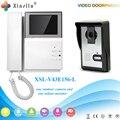Xinsilu V43E156-L Campainha Câmera Com Monitor de 4.3 polegadas Visor Da Porta Interior Para Fora Da Porta Do Telefone de Bell Vídeo Foto IR Desbloqueio Voz