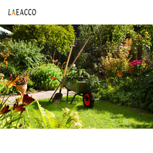 hot deal buy laeacco photographic backgrounds green garden tools grass lawn scenic photography backdrops photocall for digital photo studio