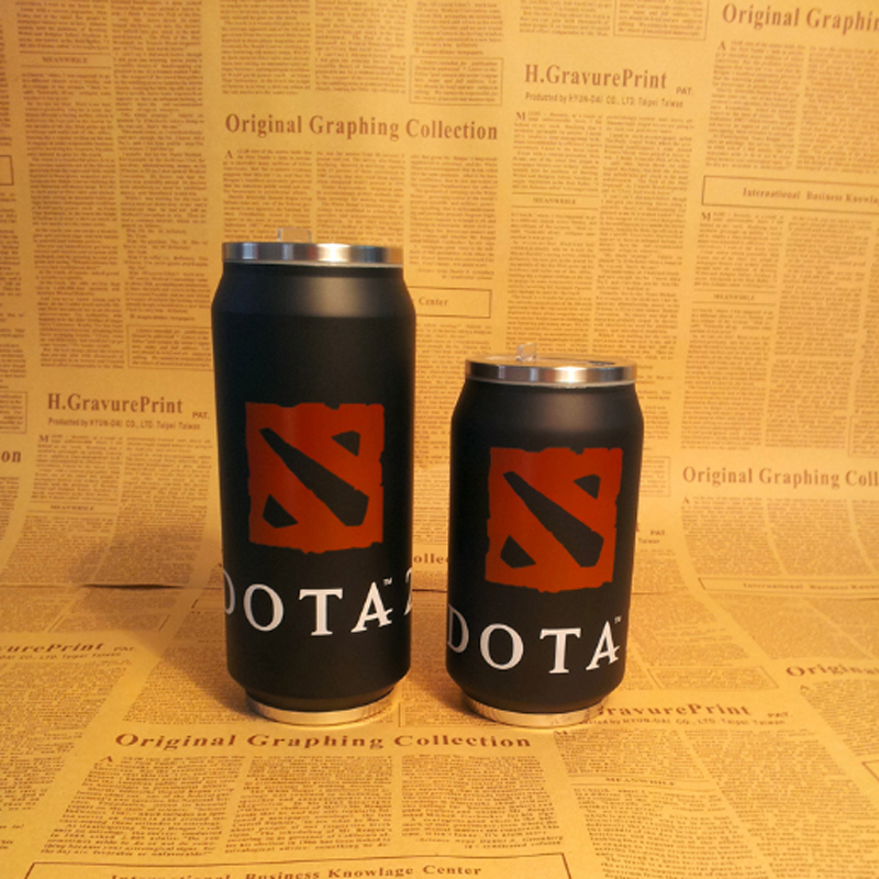 DOTA 2 Cans Styling Bunk Stainless Steel Vacuum Cups Coffee Mugs Cup Travel Mug Creative Birthday Gift Water Cans Free Shipping