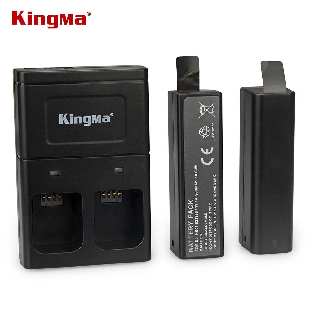 Prix pour Kingma pour DJI Osmo intelligente batterie 2 pcs + Double de charge pour poche 4 K cardan accessoires supplémentaires nouvellement venir partie 7