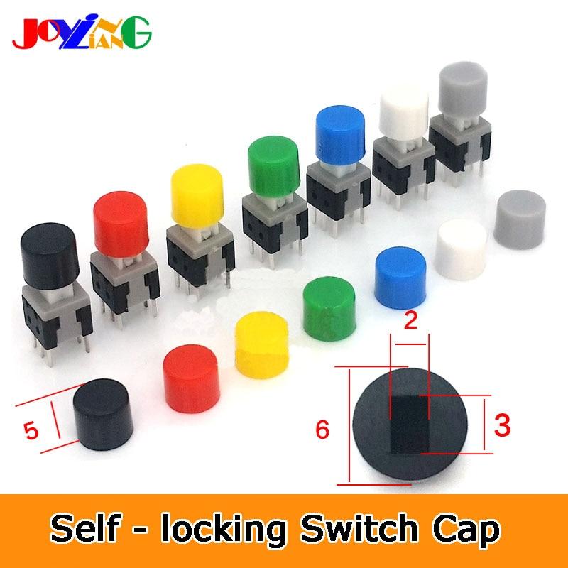 A28 Self-locking Switch Cap Size 6*5mm Key Cover Suit For 5.8/7/8/8.5 Self-locking Switch Keys Rectangle Hole 3x2mm (10pcs/lot)