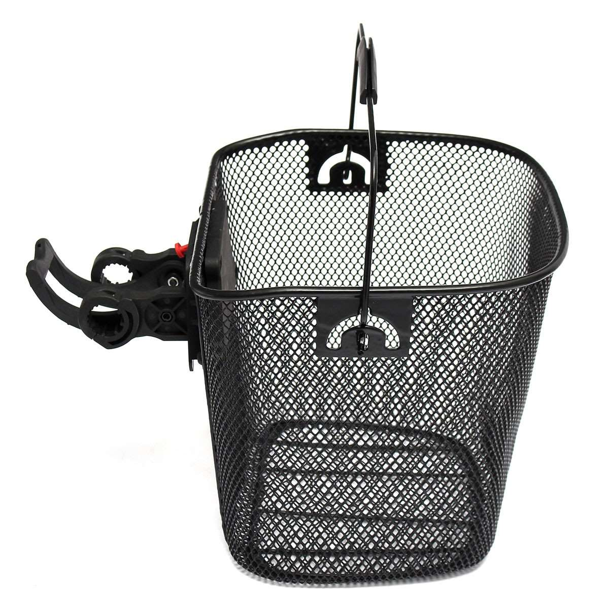 Metal Mesh Basket for MTB Mountain Bike Cycling Bicycle Front Foldable Basket Riding Rear Pannier Quick Release Shopping Handle ...