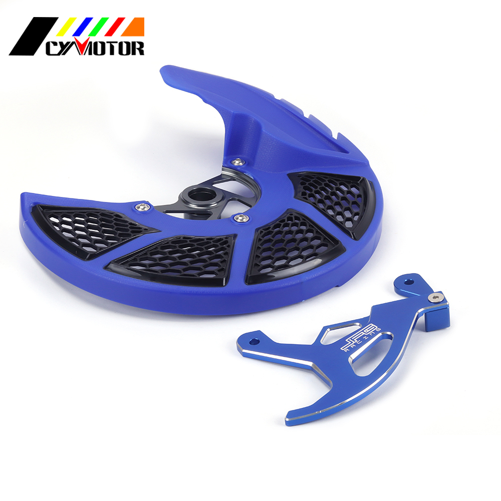 Blue Front Rear Brake Disc Rotor Guard Cover For YAMAHA YZ 250F 450F YZF 250 YZF450 YZF 250 YZF 450 2014 2015 2016 2017