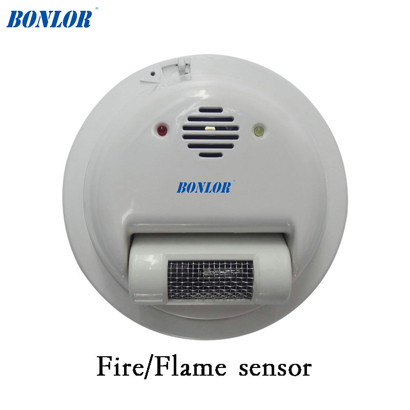 (1 pcs) fio do sensor de Alarme de Incêndio detector de Chamas 2000E raios Ultravioleta Detector Home security protection NC/NO relé de saída do sinal