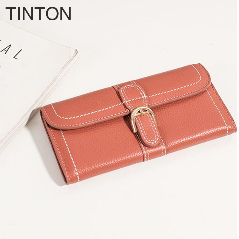 2018 new fashion korean version ladies mini leather wallet ladies Hand holding personalized long wallet birthday present hot