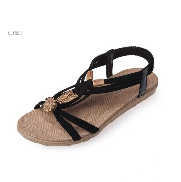 Women Shoes Comfort Sandals Summer Flip Flops High Quality Flat Sandals Gladiator Sandalias Mujer black beige brown size 36-42 girl shoes in sri lanka