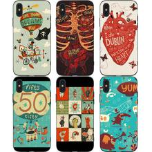 Cute Funny Cartoon Phone Cases Cover for iphone X XR XS MAX 6 6s 7 8 Plus TPU Coque For 8Plus 5SE