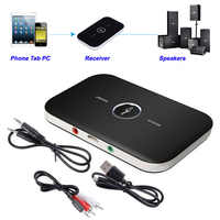 B6 2 em 1 sem fio bluetooth 4.1 receptor transmissor de áudio 3.5mm adaptador para pc smartphone bluetooth receptor transmissor aux