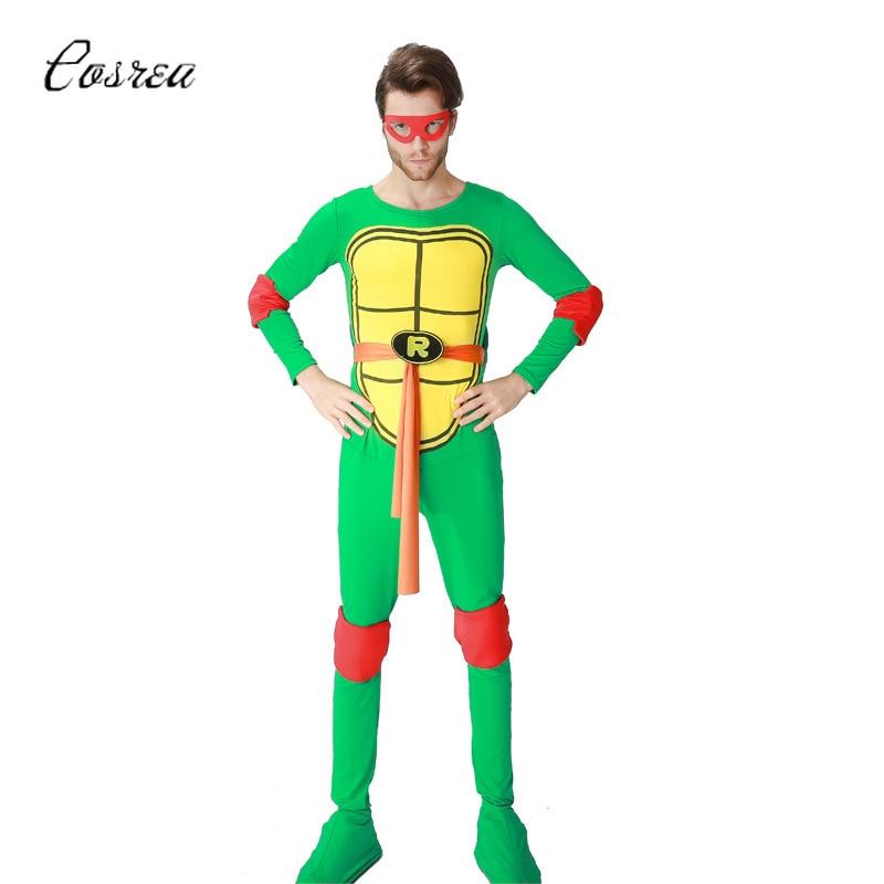 Anime Turtles Ninja Cosplay Costume Ninja Bodysuits One-piece Clothing Suit Men Jumpsuits Cloak Cape Donatello Michelangelo