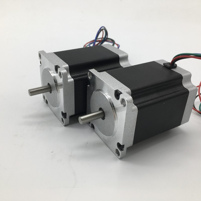 2PCS Stepper Motor Nema23 57mm 3A 2.2Nm 320Oz-in 8mm Shaft 2ph 4 Wires High Torque for CNC Router Lathe2PCS Stepper Motor Nema23 57mm 3A 2.2Nm 320Oz-in 8mm Shaft 2ph 4 Wires High Torque for CNC Router Lathe