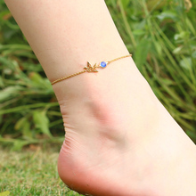 3UM Paper Crane Anklet Sandals Beach Custom Personalized 12 Month Birthstone Barefoot Animal Summer Anklet Birthday Gift Jewelry