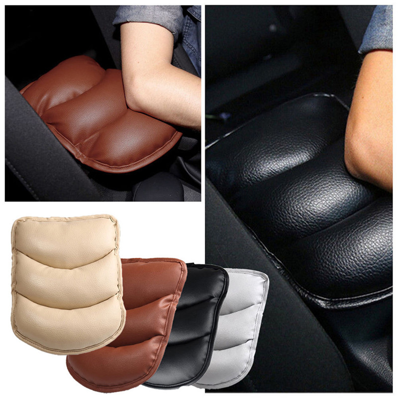 Steady 2017 Universal Car Leather Central Armrest Console Box Pad Cover Cushion Support Box Arm Rest Seat Box Padding Protective Case S Convenience Goods Interior Accessories