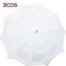 Кружевной зонтик с ручным открыванием, Свадебный зонтик, аксессуары для свадьбы, Свадебный зонтик для душа SA853