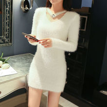 Women's autumn and winter new sweaters female students slim bottoming solid o neck full sleeve pullover casual