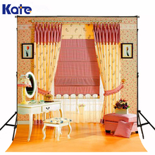 Kate Photo Background Make-Up Mirror Dressing Table Camera Fotografica Digital Chair Sofa Curtain Gigital Photography Backdrops