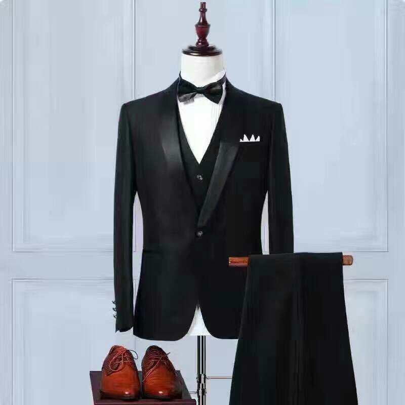 De Smokings Mariage Costumes Pantalon Haute Noir Nouveau Blazer Hommes 2017 Un Epoux Qualité Veste D'affaires Picture Bouton Gilet Marié Costume As 0Y4WPqW