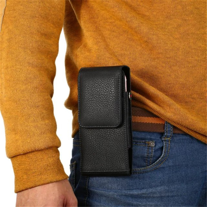 Universal Clip Ceinture Étui Pu Hommes Taille Sac Pour Samsung Galaxy Note 3 4 5 8 S5 S6 S7 S8 s9 Bord Plus Wallet Card Slot
