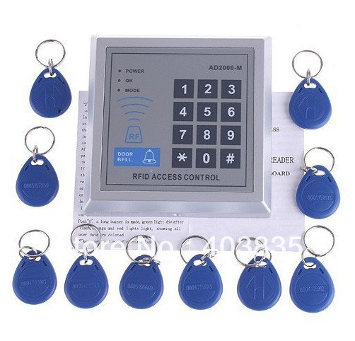 Security RFID Proximity Entry Door Lock Access Control System 500 User +10 RFID Keyfobs with English user manual security rfid proximity entry door lock access control system 500 user 10 rfid keyfobs with english user manual