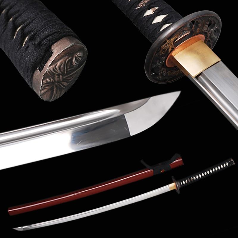 <font><b>Elegant</b></font> <font><b>Home</b></font> <font><b>Decoration</b></font> Fully Handmade Sharp Edge Japanese Katana High Carbon Steel Blade Full Tang Samurai Sword