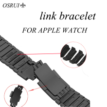 Stainless Steel Link Bracelet strap for apple watch band 42mm 44mm 40mm 38mm Watchband wristwatch Belt for iwatch Series 4 3 2 1 eimo stainless steel band strap for apple watch 4 38mm 42mm iwatch series 3 2 1 link bracelet wristband ceramic watchband black