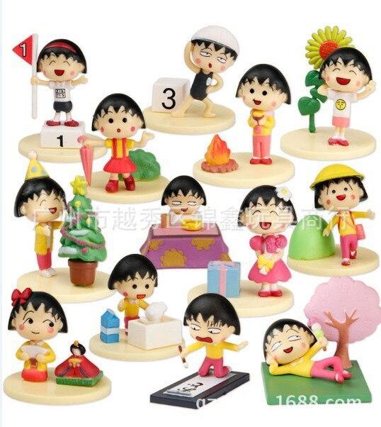 Japanese Anime Chibi Maruko Chan Happy Year 13pcs / Lot