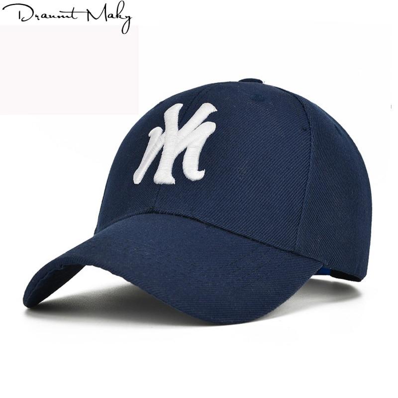 Embroidery NY Baseball Caps fashion Snapback hats for men women black sport  gorras my cap Unisex wholesale dad truck Caps New f123d4428