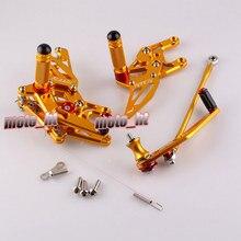 Мотоцикл Rearset Задний Комплект Регулируемые Подножки Для HONDA CBR 1000RR 2008 2010 2011 2012 2013 Золотой
