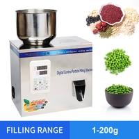 YTK 1 200 г чай частиц машина для взвешивания зерна медицина семян фрукты машина для упаковки соли порошок Наполнитель