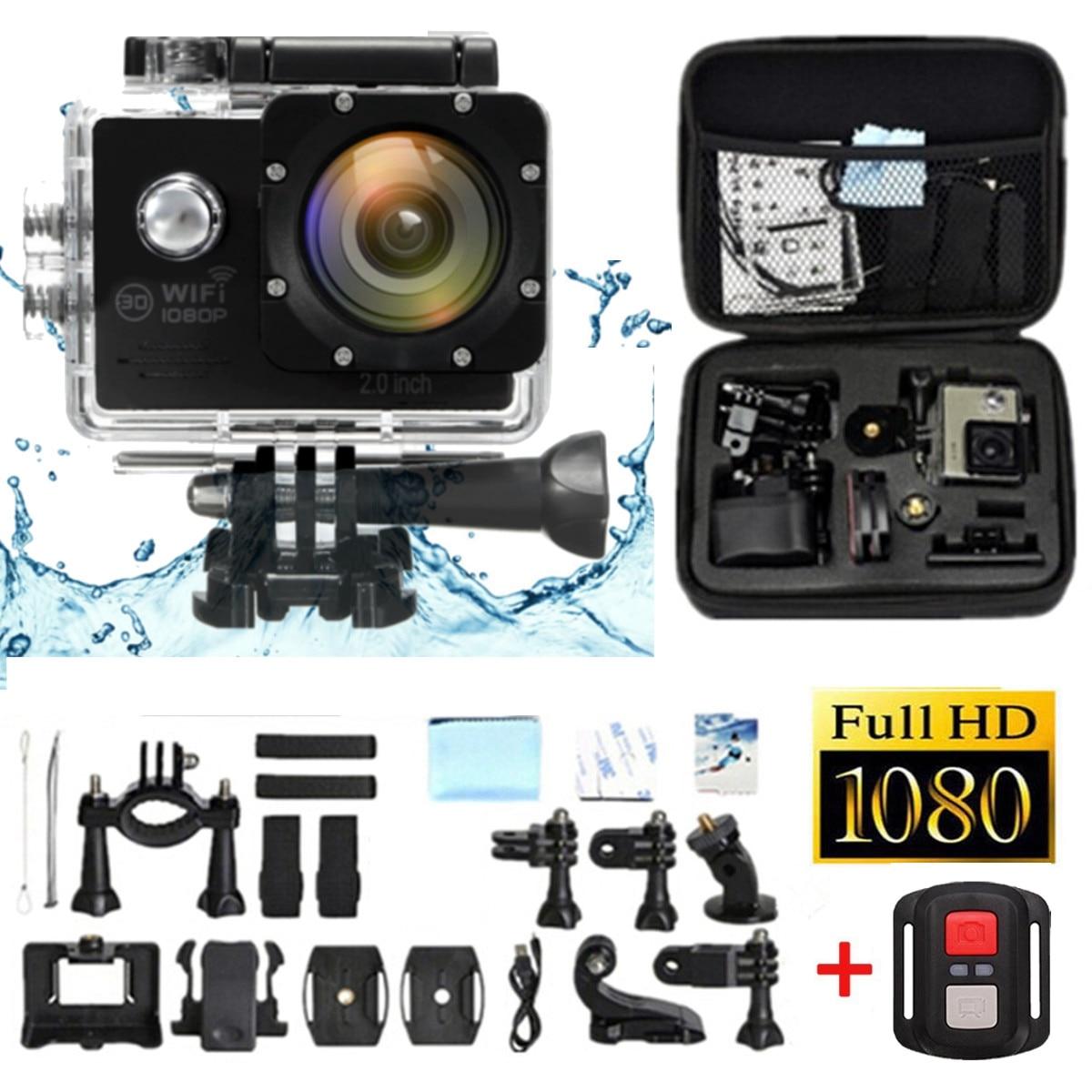 4K 2.0 LCD HD 1080P 16MP Waterproof Wifi Sport Action Camera Cam DV Digital Camcorder Storage Case campark wifi sport action camera 2k hd 30fps hd 1 5 tft lcd 1080p 60 fps 16mp action cam digital camcorder hdmi output