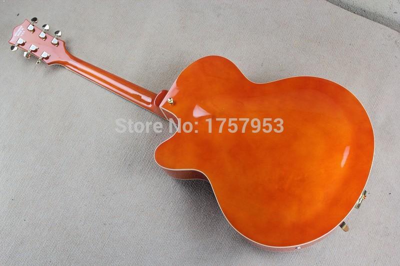 Free Shipping Factory Custom Shop 2017 new Gret sch Falcon 6120 Semi Hollow Jazz Orange Electric Guitar Bigsby Tremolo 1 15