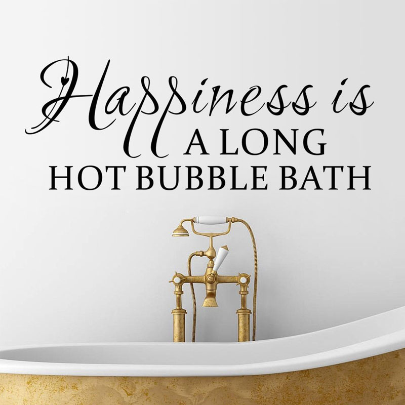 Dctop Happiness Is A Long Hot Bubble Bath Words Wall