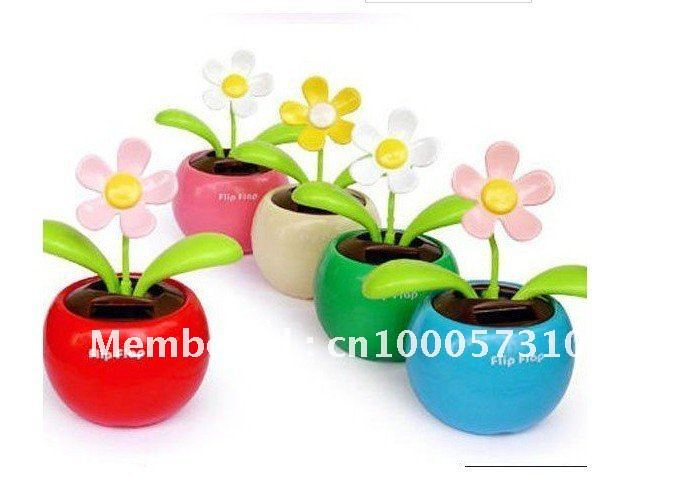 Solar Powered Gift ,Solar Dancing Flowers , flip flap solar  Toy with Color  Red, Blue,Green, Yellow