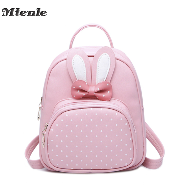 Mtenle Mini Small Backpacks For Teenage Girls Bunny Cute Backpack