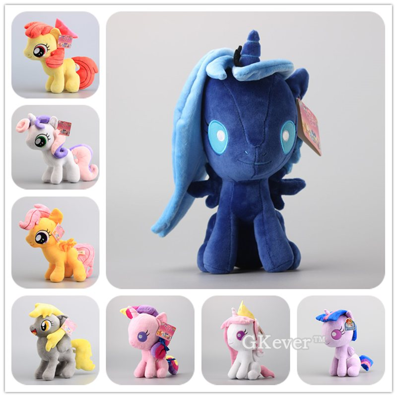 Q Version Luna Horsese Princess Cadance Plush Toys Stuffed Dolls Kids Gift 25-28cm