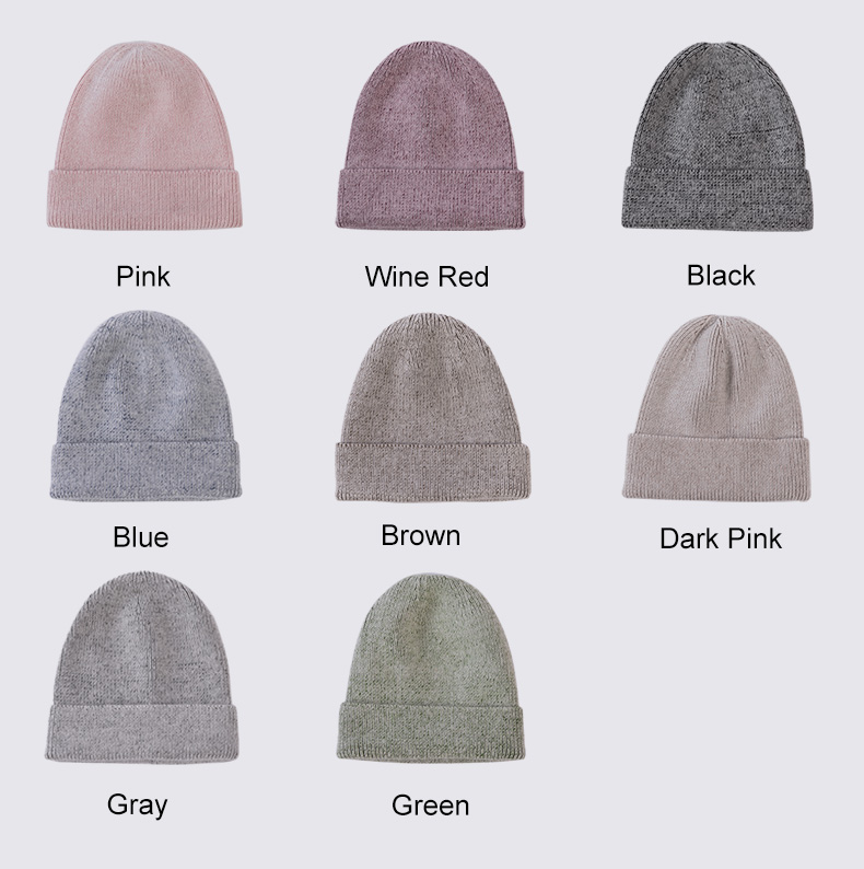 Ralferty Winter Hats For Women Warm Knitted Skullies Beanies Fashion Hat Female Cap Winter Accessory Hip Hop bonnet femme gorro 2