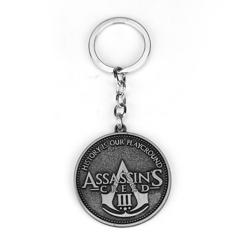 Game Movie Assassins Creed Keyrings Alloy ACT Car Key Holder Keychains Best Friend Graduation Chirstmas Day Gift Jewelry image