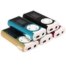 مشغل بمشبك USB صغير مشغل MP3 شاشة LCD 16 جيجابايت بطاقة SD TF صغيرة
