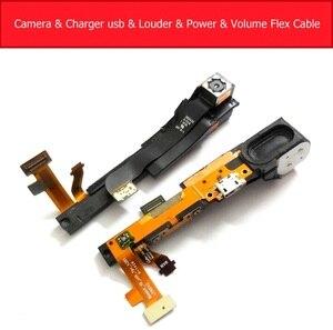 Подлинное Зарядное устройство USB, питание, камера и более громкий гибкий кабель для Lenovo Yoga tablet 2 1050F 1051F Замена модуля громкости и камеры