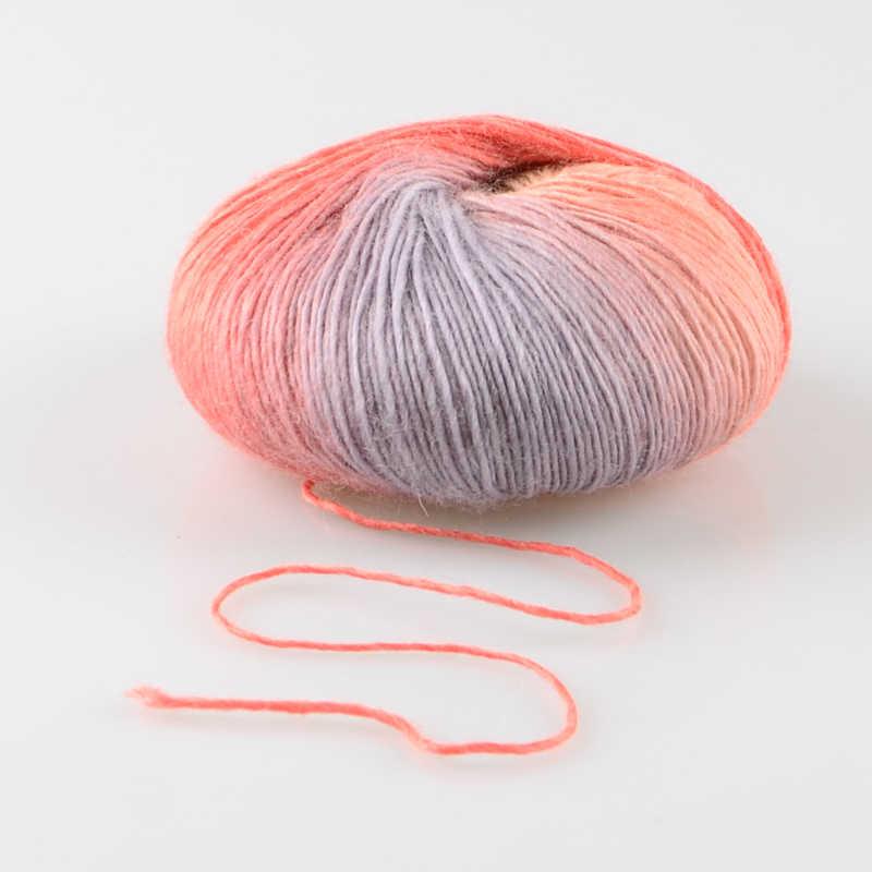 Fil de laine tricoté épais tissé à la main | Fil de laine coloré arc-en-ciel, 100% aiguilles en laine Crochet, fil de laine