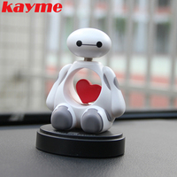Car ABS Material White Love Shook His Head Doll Car Interior Ornaments Perfume Seat Ornaments To