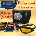 Qualidade Originais Daisy C5 Oculos De Sol Masculino Polarizado 4 Lentes UV Proteção Exército Militar Tático Jogo de Guerra Óculos Esporte