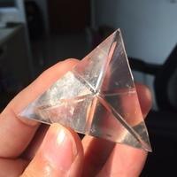 Dohabogoo Crystals Pyramid PY913 Special 3 Side Clear Quartz Crystal Pyramid Feng Shui Craft Folk Art