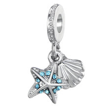 7c3eb4754 Summer Style Silver Plated Beads Tropical Starfish & Sea Shell Pendant  Charms Fit Pandora Charm Bracelets & Necklace Jewelry