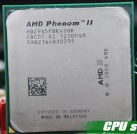 Free shipping AMD Phenom II X4 965 3.4GHz Socket AM3 938 Processor Quad Core 2M Desktop CPU scrattered pieces