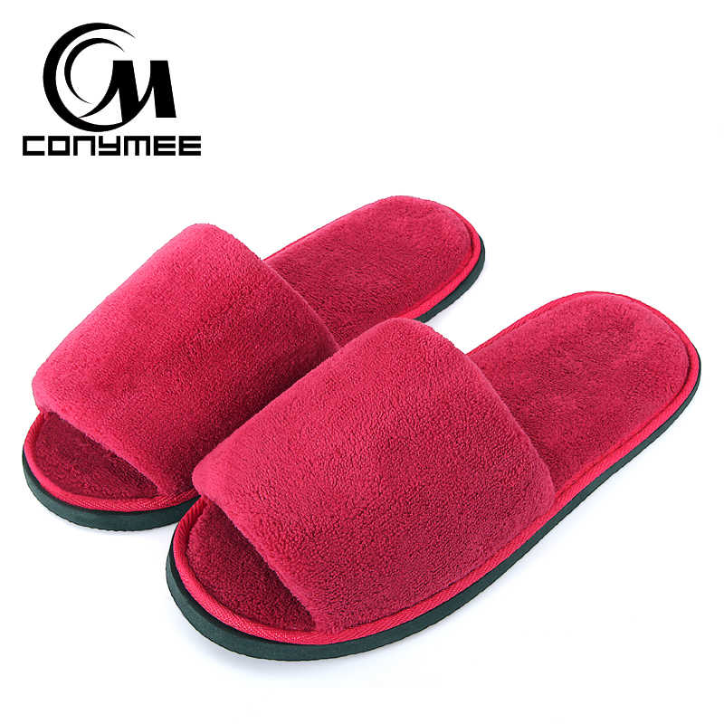Home Slippers Woman Soft Plush Shoes Pantufa Coral Velvet Warm Sneakers For Men Women Winter Indoor Cotton Slipper Erkek Terlik