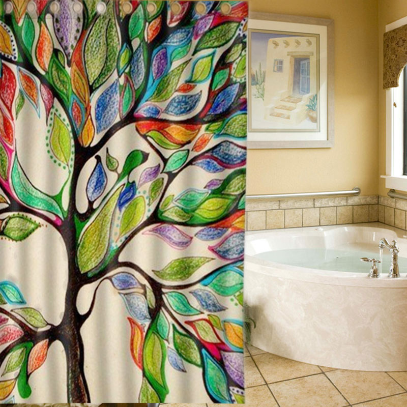 Perfect Non Slip Floor Mat Durable Non-woven Fabric Life Tree Doormat Life  Gorgeous Like Leather Bath Shower Curtain #V01165 - Online Get Cheap Leather Shower Curtain -Aliexpress.com Alibaba
