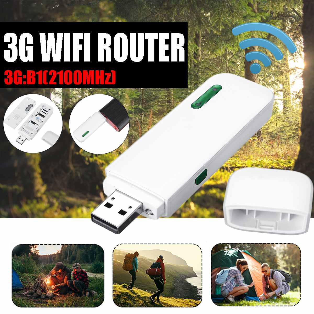 LEORY 3G LTE USB Modem Network Adapter 150Mbps With WiFi Hotspot SIM Card slot 3G Wireless Router wifi Router(China)